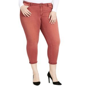 Jessica Simpson Ankle Jeans Plus Sz 24W Red NEW